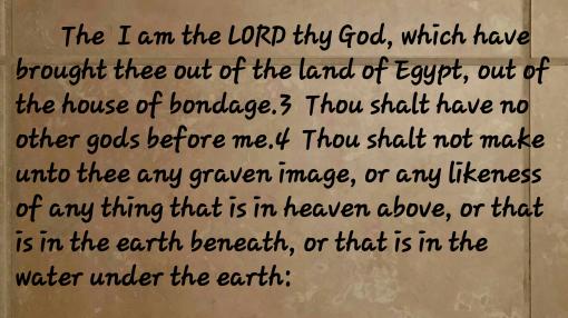 Exodus20:2-4